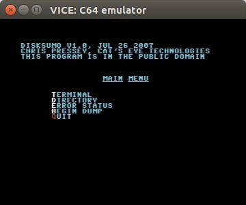 DiskSumo main menu